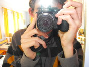 Myself, taking a picture of myself.