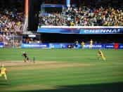 A photo of a match between Chennai SuperKings and Kolkata Knightriders during the DLF IPL T20 tournament