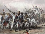 English: Scene of the Battle of Vertières during the Haitian Revolution