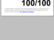 English: ACID 3 web standards test score of Internet Explorer Mobile