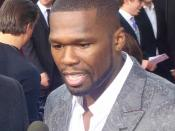 50 Cent at the 2009 American Music Awards Red Carpet.