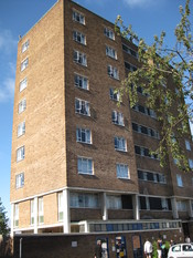 English: Whitworth Hall (tower block), Loughborough University