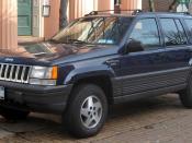 1993-1995 Jeep Grand Cherokee photographed in Alexandria, Virginia, USA. Category:Jeep ZJ Grand Cherokee