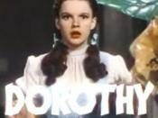 Cropped screenshot of Judy Garland from the trailer for the film The Wizard of Oz.