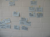 good ideas and problems - morning session brainstorming