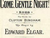 Cover of the song Come, Gentle Night!, published by Boosey & Co. in 1901