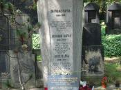 Franz Kafka's grave in Prague-Žižkov.