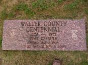 Waller County Centennial Time Capsule Coords