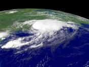 The angled image of Hurricane Charley was taken by a National Oceanic and Atmospheric Administration satellite at 12:45 p.m. EDT on August 14, 2004. As seen above, the storm came ashore in the United States twice: over Florida and again over North Carolin