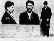 Stalin's Mug Shot The information card on Joseph Stalin, from the files of the Tsarist secret police in St. Petersburg this document shows that Stalin was being searched by the secret police in Russia since early 1900's (created probably 1902 to 1910)