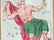 Cepheus as depicted in Urania's Mirror, a set of constellation cards published in London c.1825.