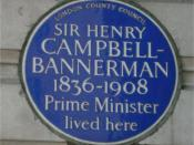 English: Blue plaque to Henry Campbell-Bannerman on his house at 6 Grosvenor Place, London, England. Photographed by me 29 September 2006. Oosoom