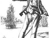 Anne Bonny (1697-1720). Engraving from Captain Charles Johnsons General History of the Pyrates (1st Dutch Edition 1725)