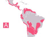 Chagas in Latin America (A:Endemic zones)