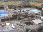English: Excavations at the Edgewater Park Site, Coralville Iowa, 2004