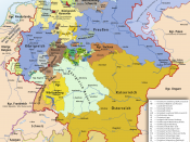 Karte des Deutschen Bundes 1815–1866 / Map of German Confederation 1815–1866