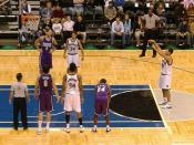 Free throws are awarded to the opposing team when a team enters the penalty situation.