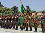 Honor guard of the Afghan National Army during the 2011 commemoration of Afghan Independence Day.