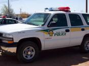 English: A Navajo Police Chevrolet Tahoe.