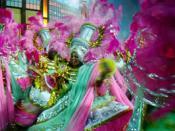 Mangueira samba schoo parading during 1998 carnival in Rio.