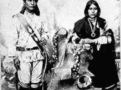 Laguna Man and Woman in Traditional Dress
