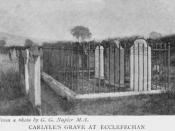 English: Thomas Carlyle's grave at Ecclefechan