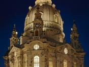 Church of Our Lady, Dresden. Français : Église Notre-Dame de Dresde.