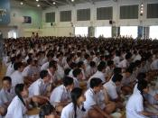 Students of Nan Hua High School gathering in the School Hall.