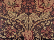 Honeysuckle printed fabric designed by William Morris. (Details from Linda Parry, William Morris and the Arts and Crafts Movement: A Sourcebook, 1989.)