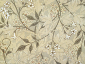 Jasmine block-printed wallpaper designed by William Morris. (Details from Linda Parry, William Morris and the Arts and Crafts Movement: A Sourcebook, 1989.)