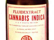 Bottle for alcohol extract of cannabis. Label says: :