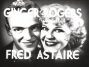 Film screenshot from the trailer to Flying Down to Rio (1933) announcing the screen partnership of Fred Astaire and Ginger Rogers
