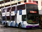 A Volvo B9TL(SBS7357B) operating on Svc. 196 at Bedok Interchange. (GAP Advertisement)