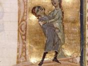 Jaufre Rudel dying in the arms of Hodierna of Tripoli (13th century manuscript)