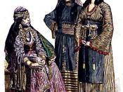 Woman from Damascus, Muslim woman from Mecca, and Fellah woman from Damascus. Late nineteenth century.