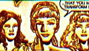 Goddesses (l to r): Mammitu, Demeter, Isis, Athena, Artemis, Aphrodite, Neith, Hestia and Bast