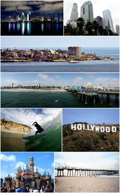 English: Montage of Southern California images on WikiMedia Commons