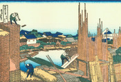 Hokusai05 lumber-yard