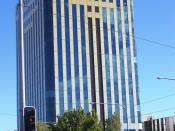 Photo of an Optus building taken in Adelaide, Australia.