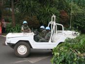 UN peacekeepers in Kigali, Rwanda