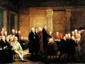 Congress Voting Independence, a depiction of the Second Continental Congress voting on the United States Declaration of Independence. Oil on canvas.