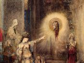 Salome and the Apparition of the Baptist's Head, watercolor by Gustave Moreau
