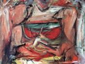 Willem De Kooning, Woman V, 1952–1953. De Kooning's series of Woman paintings in the early 1950s caused a stir in the New York City avant-garde circle.