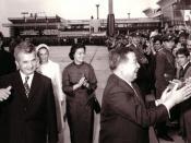 English: Prince Norodom Sihanouk of Cambodia visiting Communist Romania in 1972