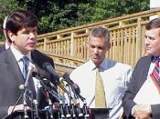 Blagojevich with former Congressman Rahm Emanuel (D-IL) advocating for changes in Medicare legislation.