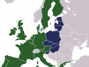 English: Map showing the states which joined the EU in 2004, along side those already members.