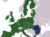English: Map showing the states which joined the EU in 2007, along side those already members.