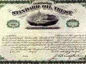 Standard Oil Trust Certificate 1896
