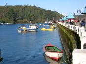 Vista de Angelmó,Puerto Montt - Chile