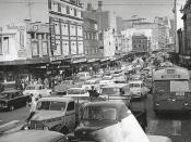Sydney traffic, c.1960